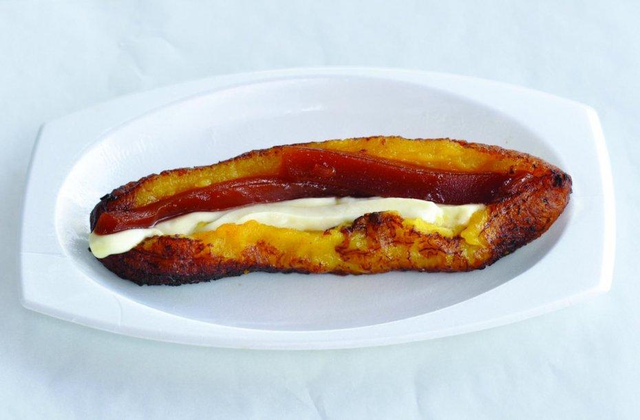 Banana with cheese