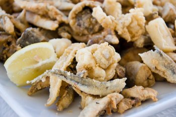 Fried fish and seafood