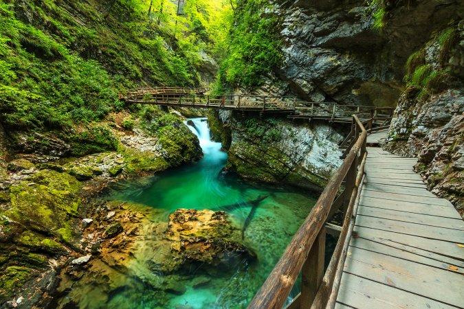 Garganta Vintgar, Eslovenia