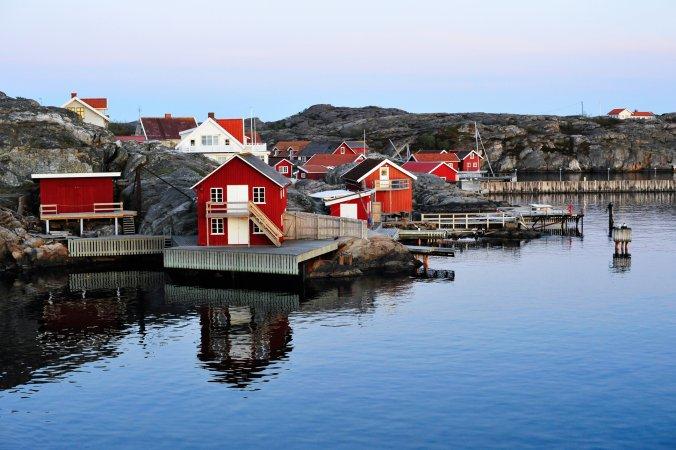 Nordviksstrand village, Sweden