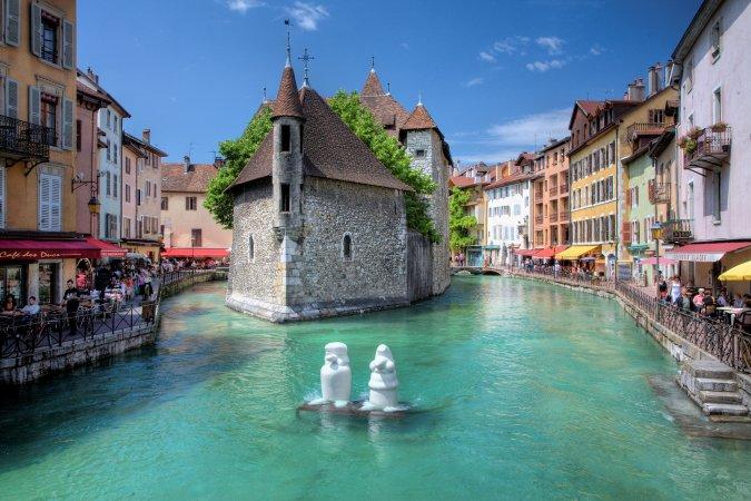 Pueblo de Annecy, Francia