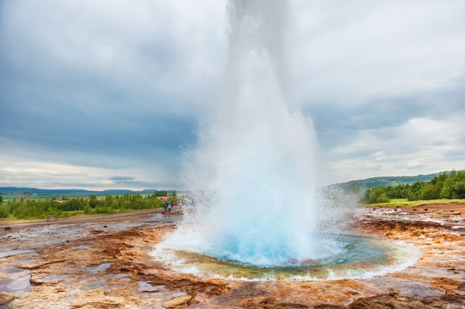 Eruption of Strokkur Geysir, Iceland