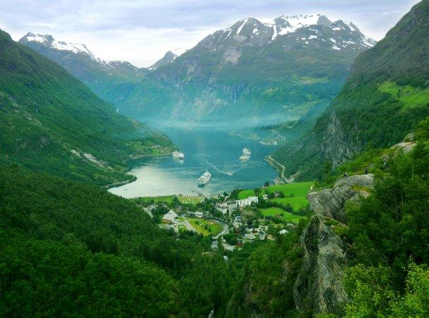 Fiordo de Geiranger, Noruega