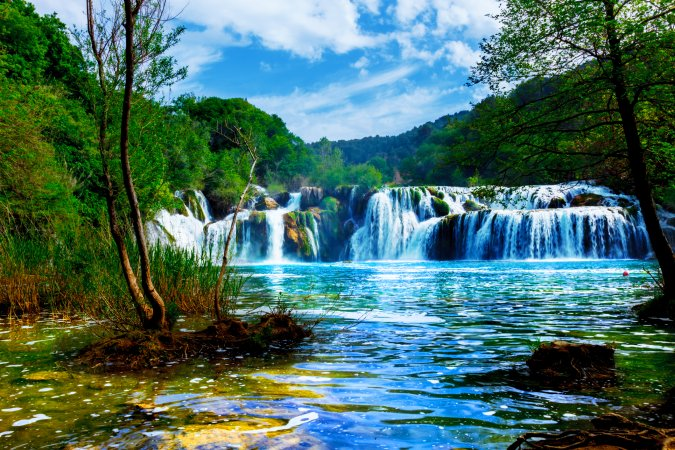 Waterfalls in the Krka National Park, Croatia