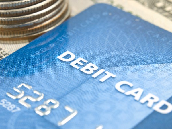 Bills, coins and credit card
