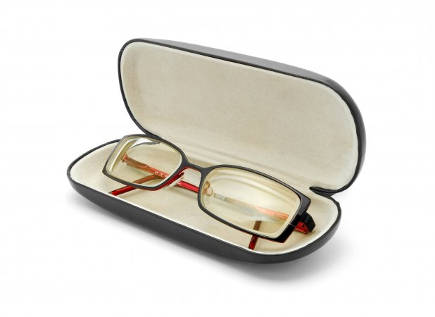 Glasses and the case glasses
