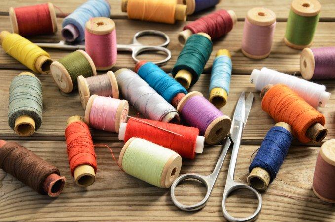 Thread and scissors