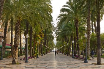 Alicante's Rambla and Esplanade of Spain